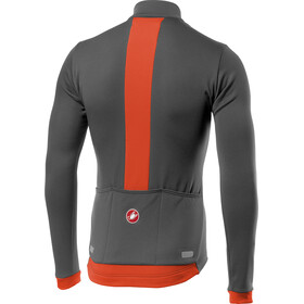 Castelli Fondo Full-Zip LS Jersey Men dark grey/orange